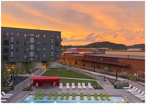 sunset photo of Arsenal Terminal Apartments - Pittsburgh