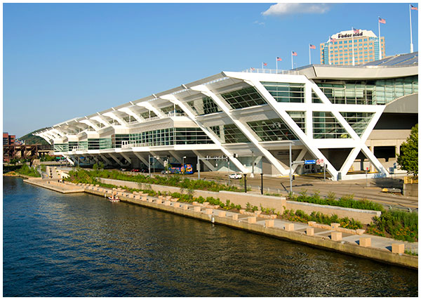 David L. Lawrence Convention Center Riverfront Park prominade