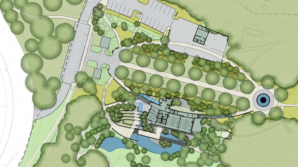 Frick Environmental Center rendered Site Plan